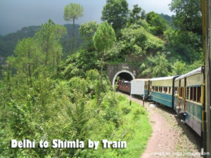 Travel from Delhi to Shimla by Train